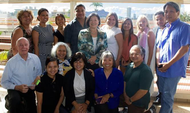 Senator Hirono spoke with DREAMers and educators at the University of Hawaii at Manoa in October 2013.