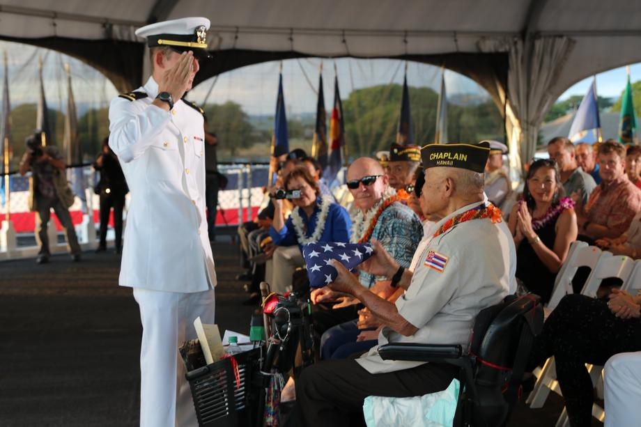 USS Missouri Veterans Day Ceremony