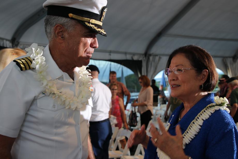 USS Missouri Veterans Day Ceremony